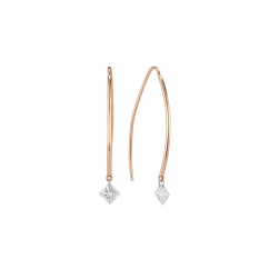 Darling 18k Rose Gold and Diamond Earrings