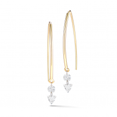 Darling 18k Yellow Gold and .69 Carat Diamond Earrings