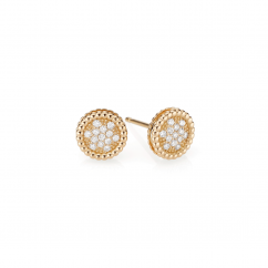 1970's 18k Gold and Diamond Stud Earrings