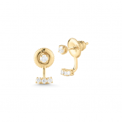 Barbela Design 14k Gold and Diamond Flare Earring Jackets