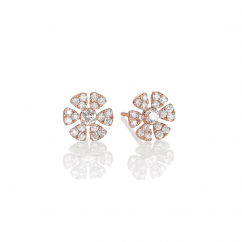Fleur 18k Rose Gold and .51ct Diamond Stud Earrings