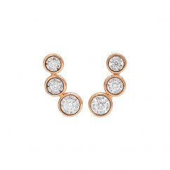Boundless 18k Rose Gold and Diamond Earrings