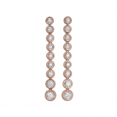 Boundless 18k Rose Gold and .90TW Diamond Earrings