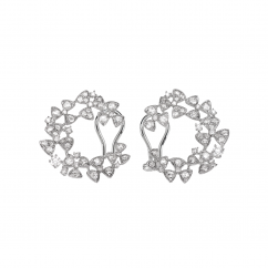 Heritage 18k White Gold and Rose Cut Diamond Earrings