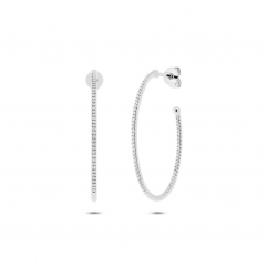 14k Gold and Diamond In and Out Hoops