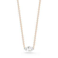 Darling 18k Rose Gold and Marquise DIamond Necklace