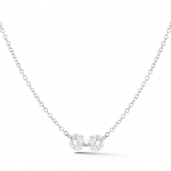 Darling 18k Gold and .46 ct Diamond Necklace