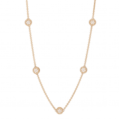 1970's 18k Yellow Gold and Diamond Necklace