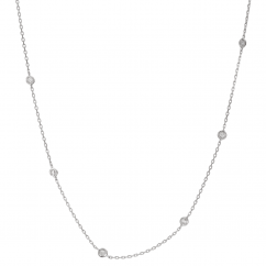 Artisan Sterling Silver Diamonds By the Yard Necklace