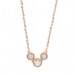 Boundless 18k Rose Gold and Diamond Necklace