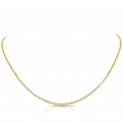 14k Yellow Gold and 1.60TW Diamond Necklace