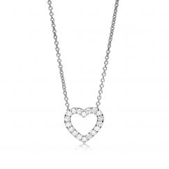 Classic 18k Gold Diamond Heart Pendant