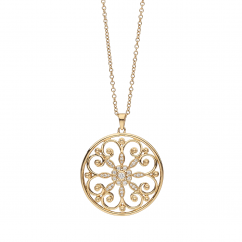 Arabesque 18k Gold and Diamond Pendant