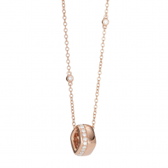 Mercer 18k Rose Gold and Diamond Pendant