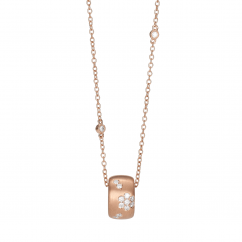 Fleur 18k Rose Gold and Diamond Pendant With Diamonds By The Yard Chain