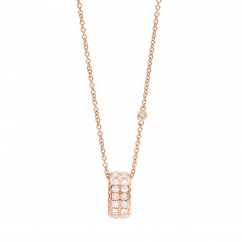 Classic 18k Rose Gold and Diamond Pendant