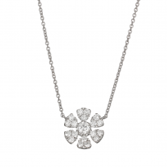 Fleur 18k Gold and .43 CT Diamond Pendant