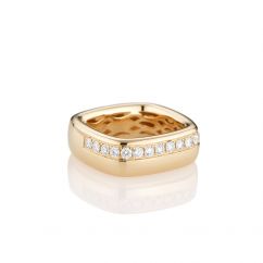 Mercer Diamond and 18k Yellow Gold Ring