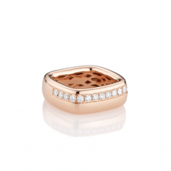 Mercer Diamond and 18k Rose Gold Ring