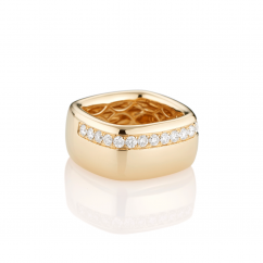 Mercer 18k Yellow Gold and Diamond Wide Ring