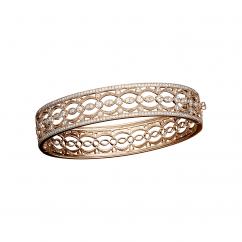 Heritage 18k Rose Gold and 1.51CT Diamond Bangle Bracelet