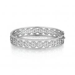 Heritage Diamond and 18k Gold Bangle