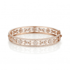 Heritage 18k Rose Gold and Diamond 7mm Bangle