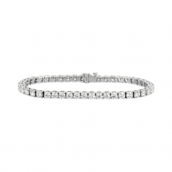 Classic 8.55CT Diamond and 18k Gold Straight Line Bracelet