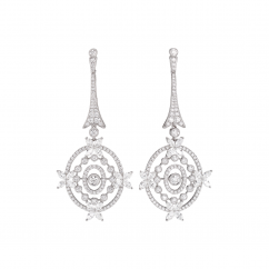 Heritage 18k Gold and Diamond Floral Earrings