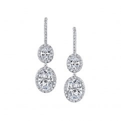 Private Reserve Lisette Platinum and 8.04CT Diamond Drop Earrings