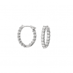 Classic 18k Gold and 2.73CT Diamond In and Out Hoops