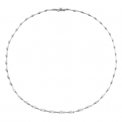 Wave 18k White Gold and Diamond Necklace