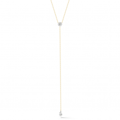 Darling 18k Yellow Gold and Diamond Lariat Necklace