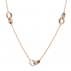 Hamilton Eternity 18k Rose Gold and Diamond Necklace
