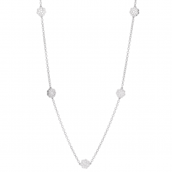 Celestial 14k White Gold and Diamond 32 Inch Necklace