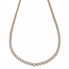 Boundless 18k Rose and Diamond Necklace