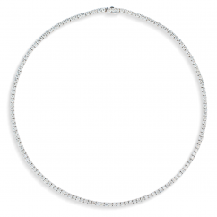 18k White Gold and 11.92CT Diamond Necklace