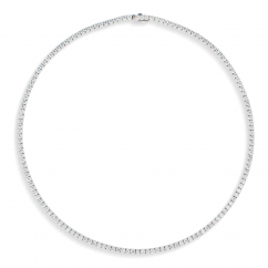 18k White Gold and 14.35CT Diamond Necklace
