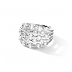 Wave 18k White Gold and Diamond Ring