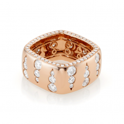 Mercer 18k Rose Gold and Diamond Wide Ring