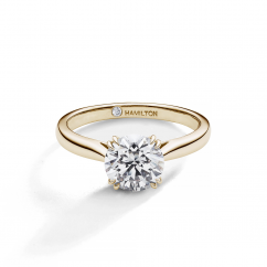 Hamilton Centennial 18k Yellow Gold Solitare Engagement Ring