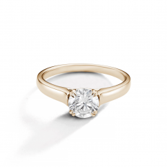 Hamilton Cherish Solitaire 18k Yellow Gold Mounting Ring