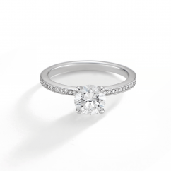 1912 Platinum and Diamond Engagement Mounting Ring