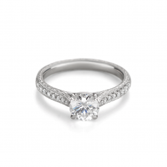 Heritage Platinum and Diamond Semi Mounting Engagement Ring