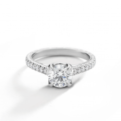 Heritage Platinum and .46TW Diamond Semi Mounting Engagement Ring
