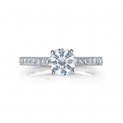 Hamilton Duet 18k .22TW Diamond Semi Mounting Ring