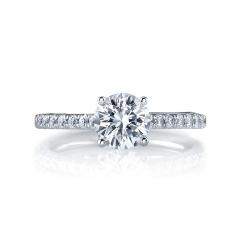 Hamilton Duet 18k .17TW Diamond Semi Mounting Ring