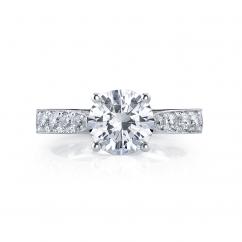 Hamilton Duet 18k .39TW Diamond Semi Mounting Ring