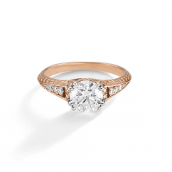 1912 18k Rose Gold and .09TW Diamond Engagement Mounting Ring