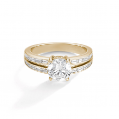 1912 18k Yellow Gold and .46TW Engagement Mounting Ring